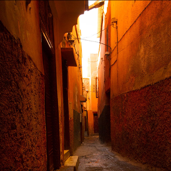 Marrakech orange alley