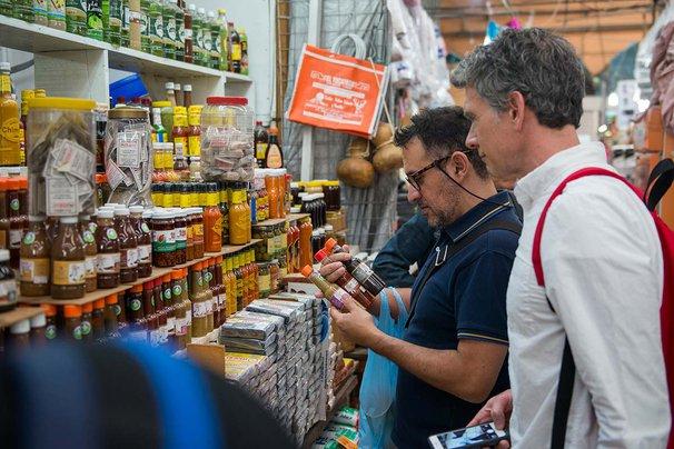 Shopping in Mexico City's Mercado de Medellin
