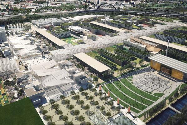 Birdeye's view of Expo 2015