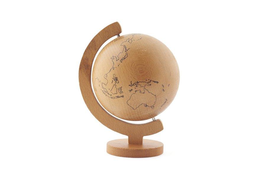 Mini Wood Globe