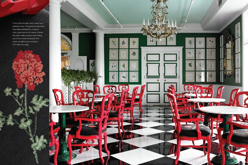 The Geranium Bar at Mackinac Island's Grand Hotel.