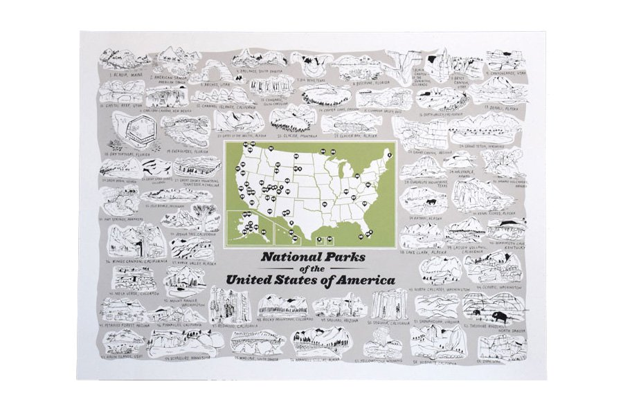 From the Woods: US National Parks Screenprint
