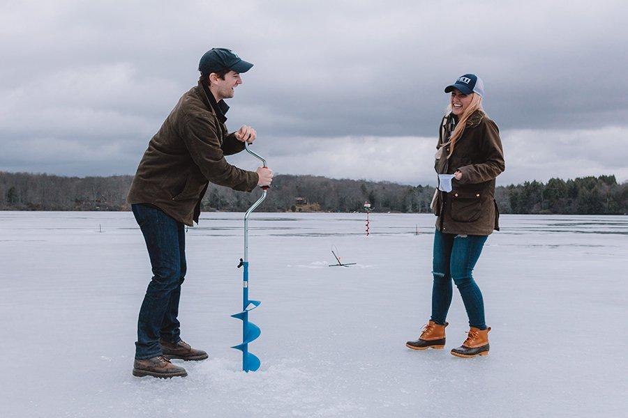 Fathom ice fishing as a boozy nyc weekend alternative for Ice fishing ny