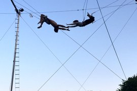 Trapeze at Omega Institute, Rhinebeck, New York