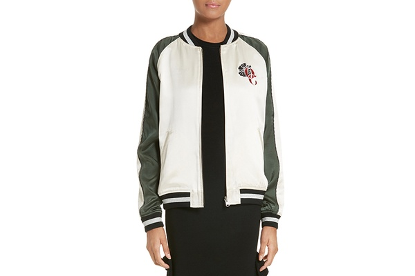 Opening Ceremony Silk-Satin Bomber Jacket