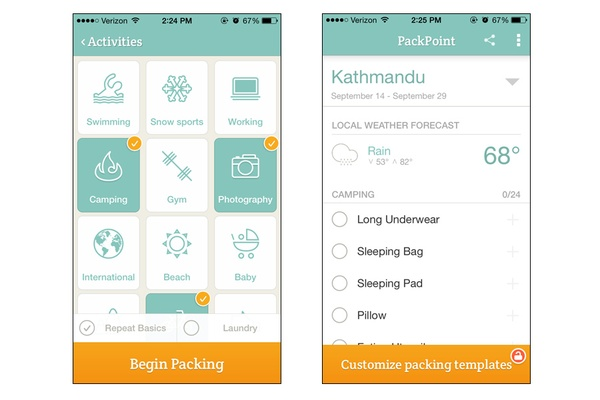 Best Travel Packing List App