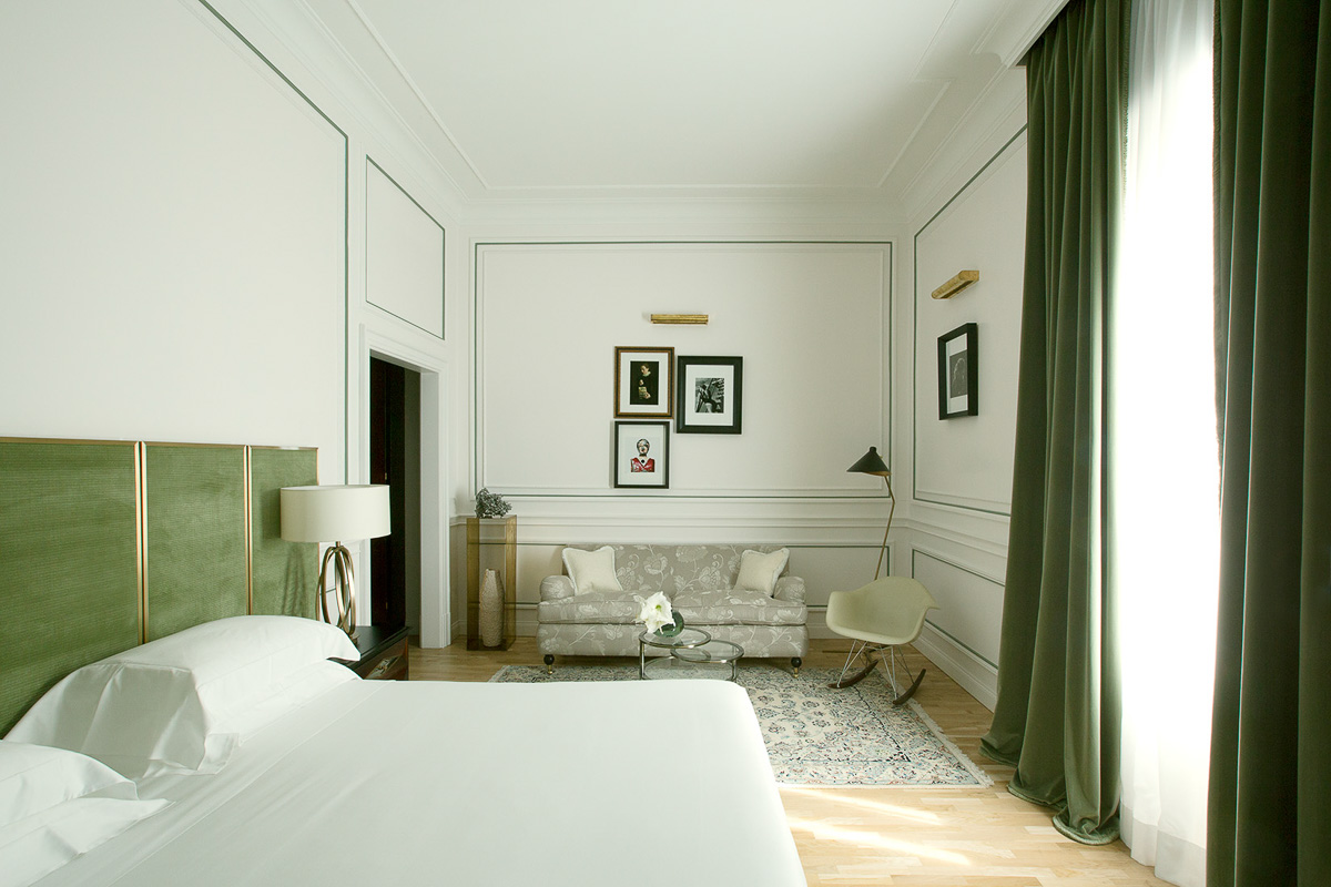 Palazzo Dama Hotel Green room in suite