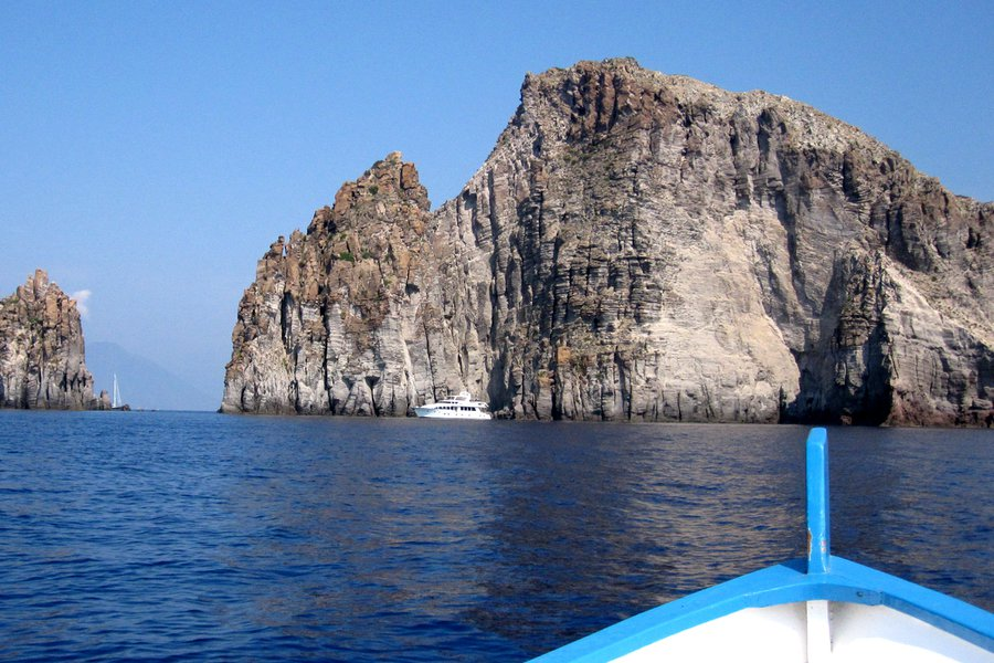 On a boat around Panarea. Photo: Deborah Schoeneman