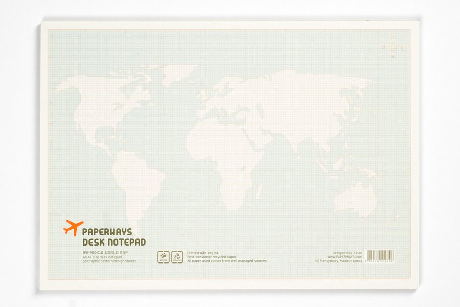 World Map Notepad