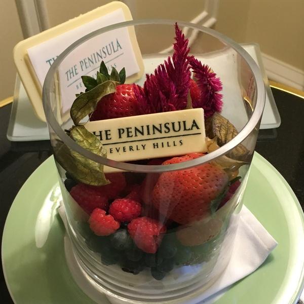 Peninsula Beverly Hills fruit cup