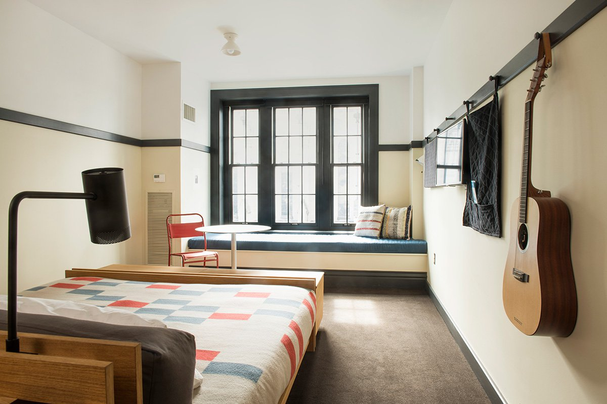 A Room At The Ace Hotel Pittsburgh. Photo By Rob Larson.