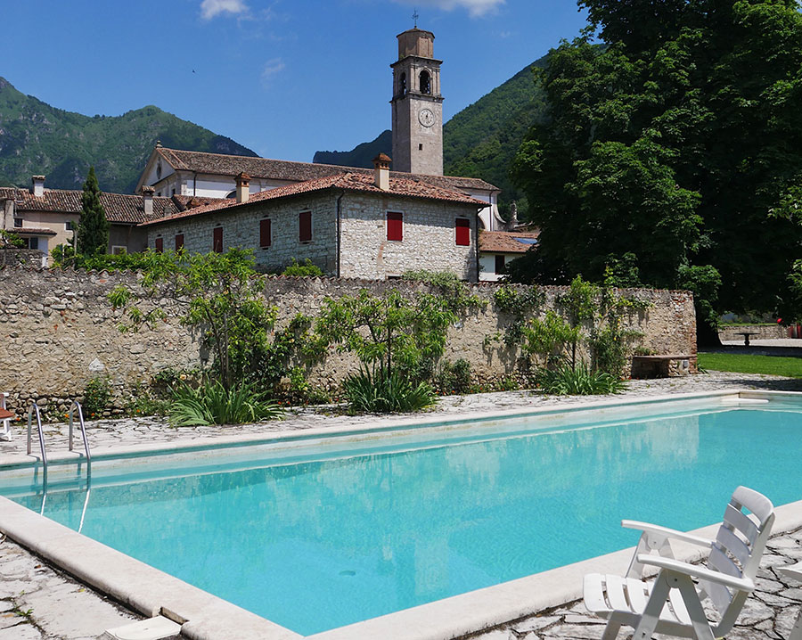pool at Villa Casagrande
