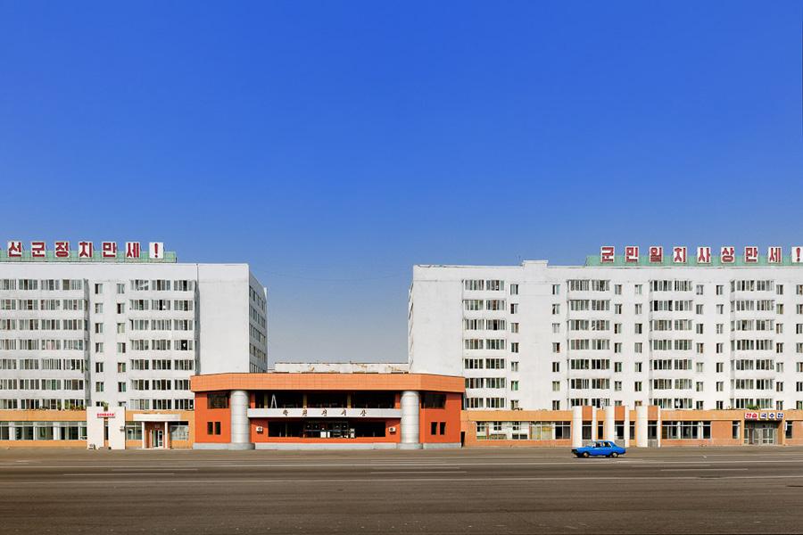 Pyongyang city empty streets