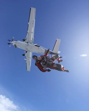 Shari skydiving