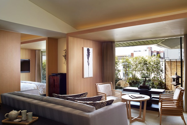 Garen Suite Living Room at The Ritz-Carlton, Kyoto