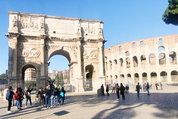 The Arch of Constantine and the Colosseum