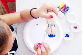 Paint Me Kokeshi Doll
