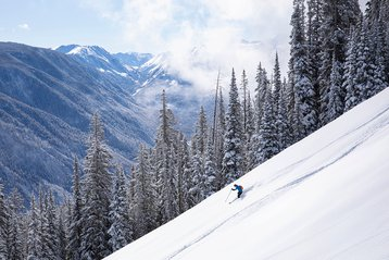 Skier on Aspen Mountain.