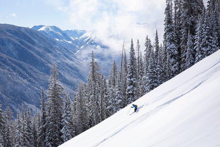 Skier on Aspen Mountain.