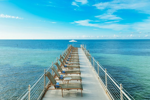 Floating dock at Southernmost Beach Resort in Key West, Florida.