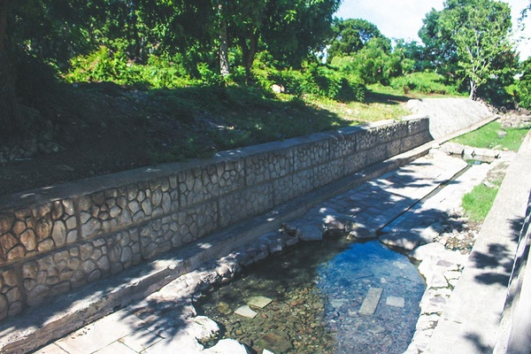 Thermal baths at Spring House and Bath Stream Nevis.