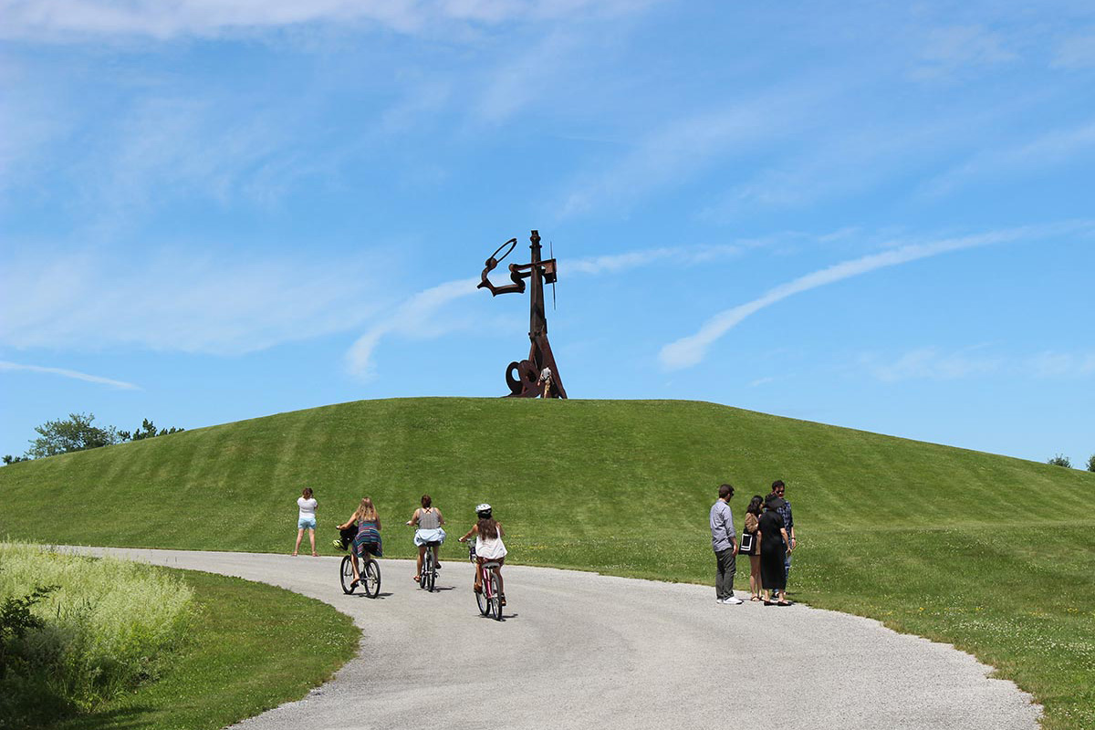 Riding bikes at Storm King Art Center