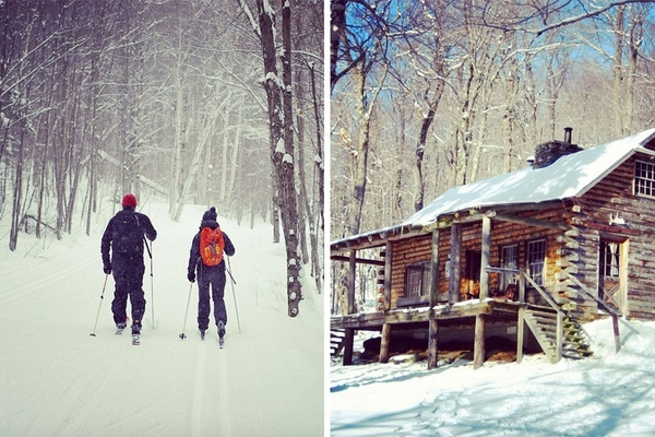 Clayton Pasture Cabin and Cross Country Skiing in Stowe, Vermont