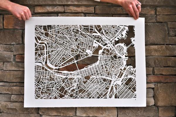 StudioKMO Paper Cut Maps