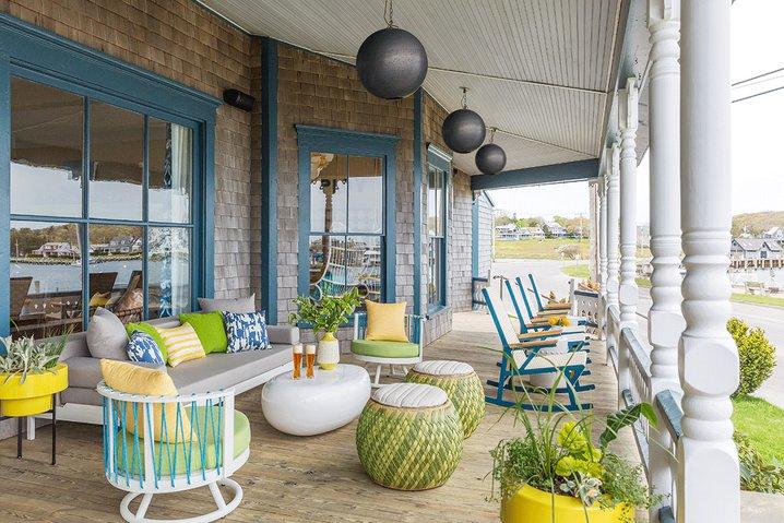 The porch at Summercamp in Martha's Vineyard.