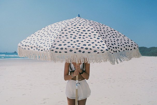 Sunday Supply Co. vintage-style beach umbrella