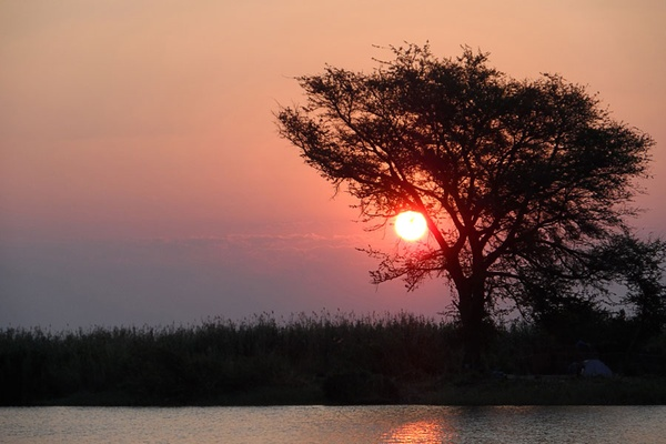 Sunset, Chobe River.