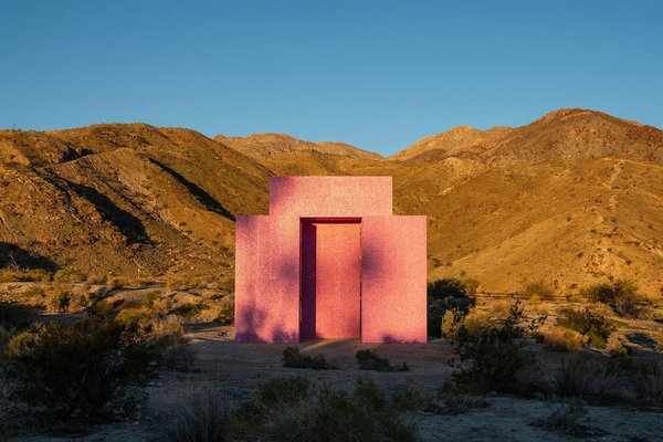 """Dive In"" desert drive-in movie theater by artist collective Superflux in Palm Springs."