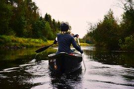 Canoeing in Täfteå, Sweden