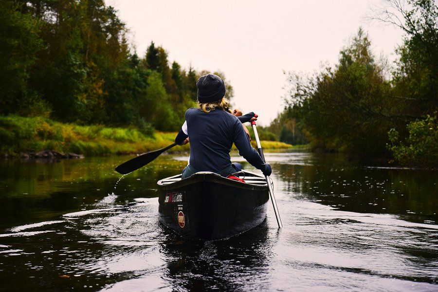 Canoeing in Täfteå, Sweden
