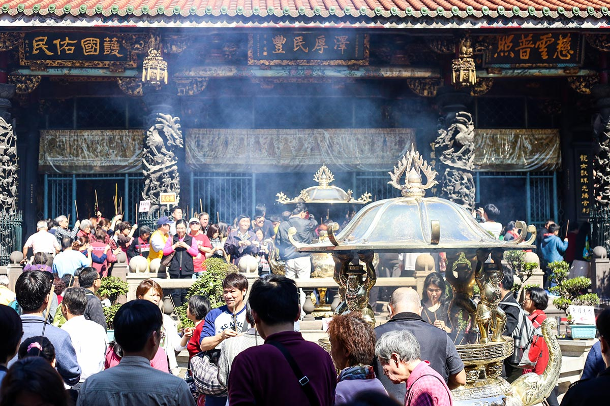 Mengjia Longshan Temple, Taipei, Taiwan
