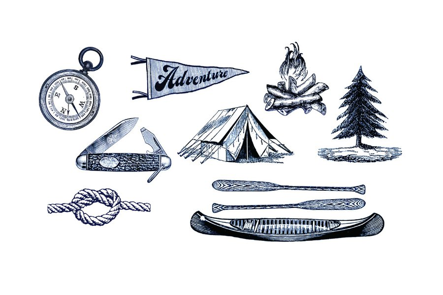Tattly Temporary Tattoos Camping Set