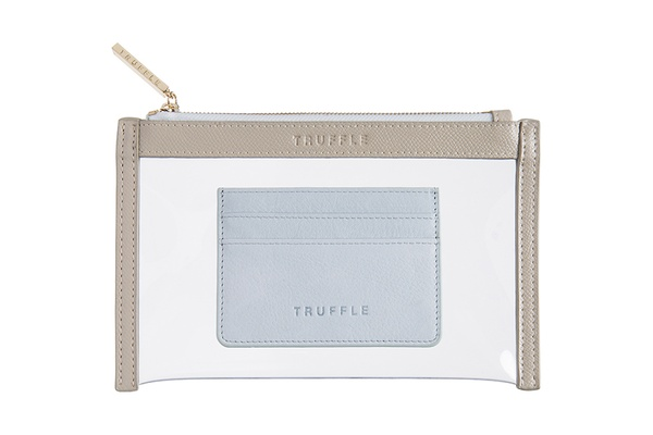 Truffle Clarity Clutch and Card Case Duo