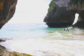 Surfing at Uluwatu