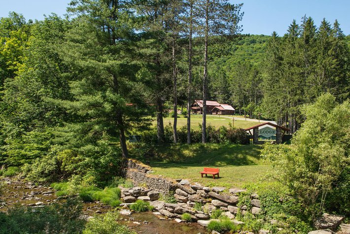 Urban Cowboy Lodge in Catskills, NY.