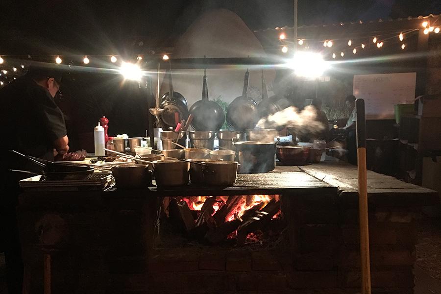 The outdoor kitchen at Deckman's.