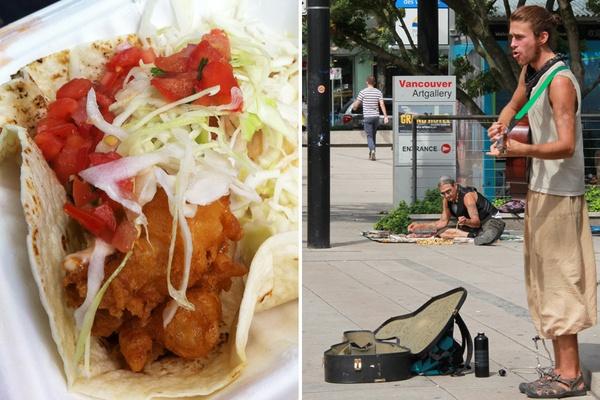 Tacofino and Vancouver street scenes