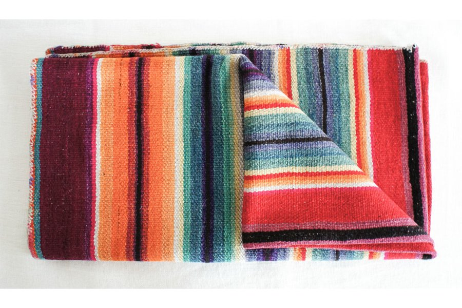 From Bolivia: Vintage Andean Blanket