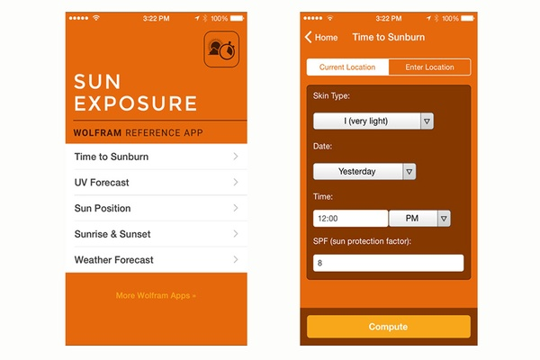 Wolfram Sun Reference App