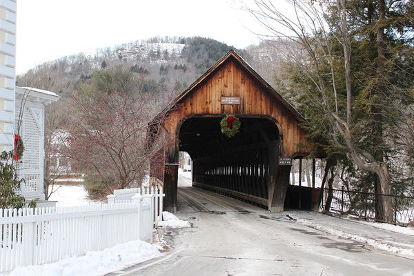 Covered bridge in Woodstock, Vermont