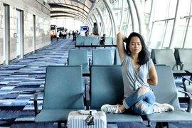 Airport yoga.