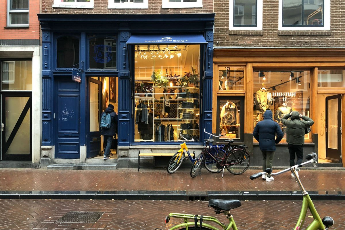 Amsterdam shop front.