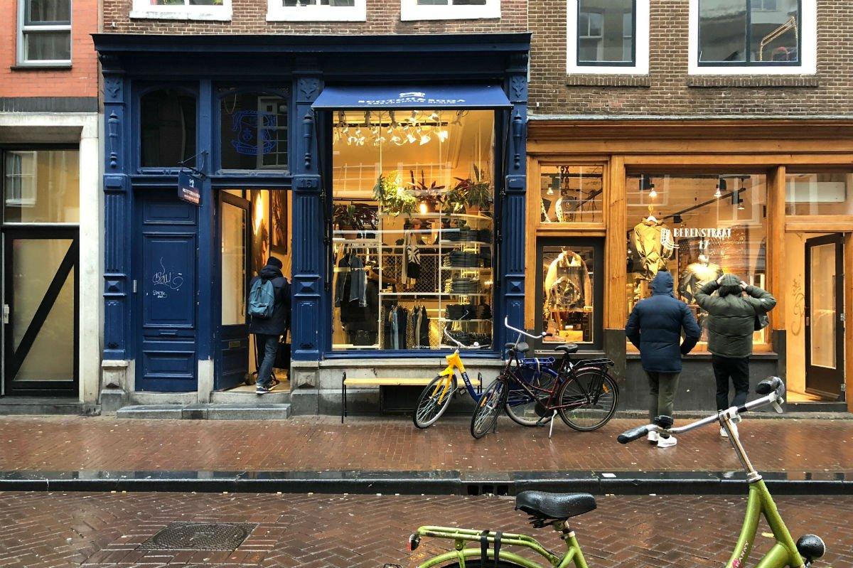 Amsterdam shop front.