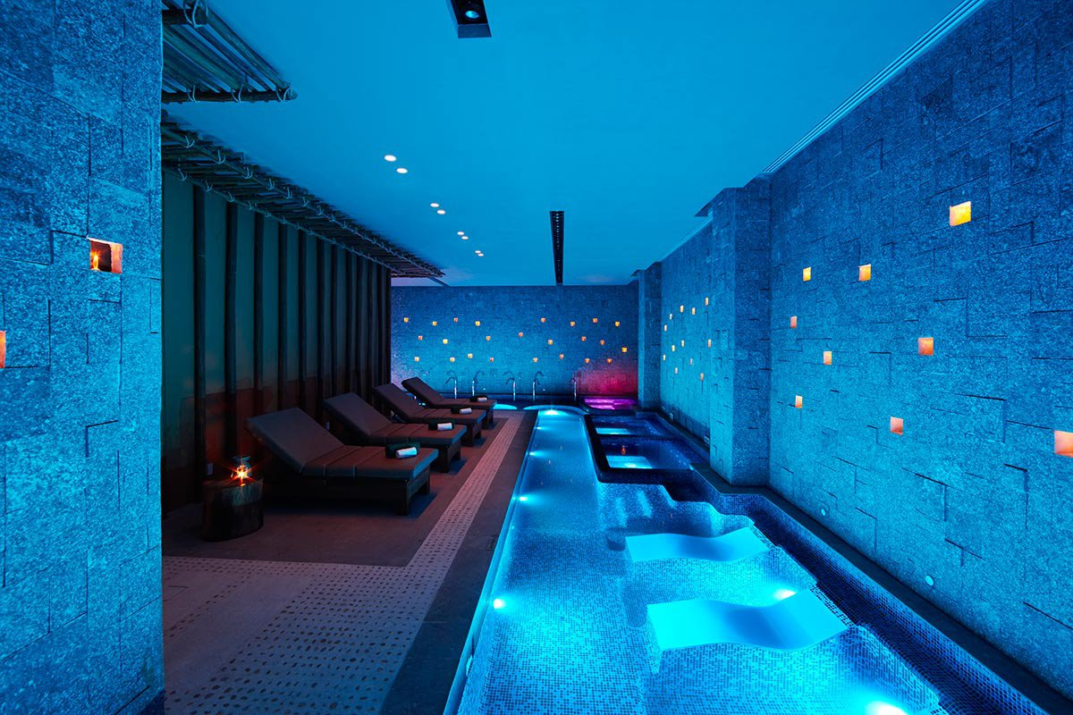 Rainforest vitality pool at the spa.