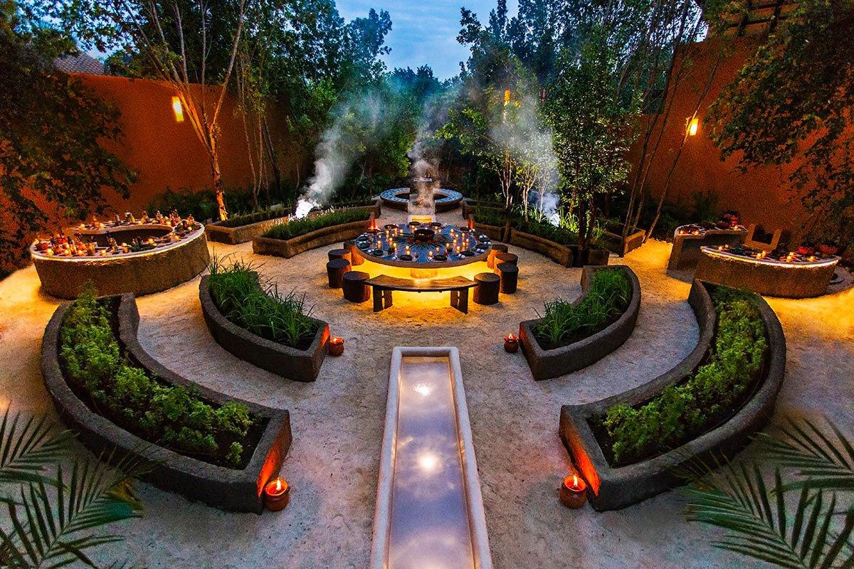 HAAB Mayan outdoor dining experience.