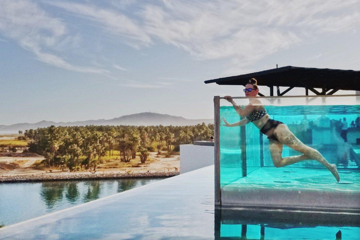 Hotel el Ganzo rooftop infinity pool